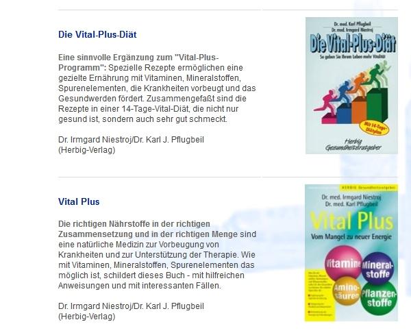 Vital-Plus Diät von Sanorell Pharma: Medikamente für Naturheilkunde und Alternativmedizin
