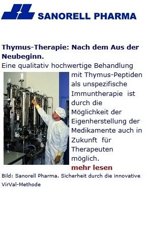 Thymustherapie: Behandlung mit Thymusextrakten bei Abwehr- und Immunschwäche