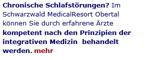 Schlafst�rungen Therapie Schwarzwald Medical Resort